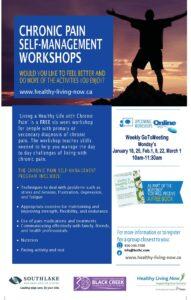 Chronic Pain Self-Management Workshops flyer