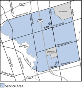 BCCHC Catchment area map