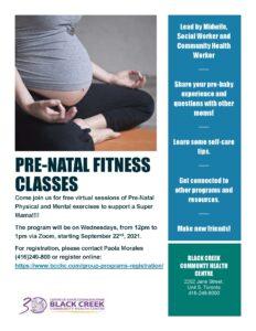 Prenatal Fitness flyer